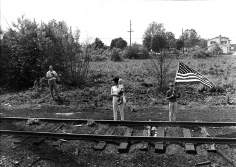 Harry Benson, Train Track for Robert F. Kennedy's Funeral, New York to Washington, D.C., 1968