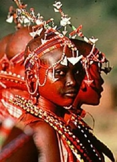 Carol Beckwith and Angela Fisher, Maasai Girls, Kenya, 1985