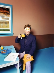 David LaChapelle, Elton John: Egg On His Face, 1999