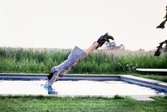 Arthur Elgort, Stella Diving, Watermill, New York, VOGUE, 1995
