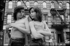 Susan Meisalas, Dee and Lisa on Mott Street, Little Italy, New York City 1976