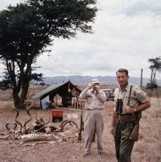 Slim Aarons, Hunter Reggie Destro and Arnold Newman, Nairobi, Kenya, 1960