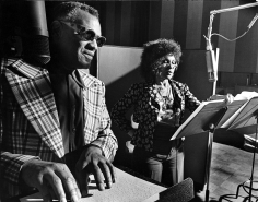 "Phil Stern, Ray Charles and Cleo Laine Recording ""Porgy and Bess"", 1975"
