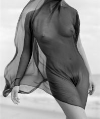Herb Ritts, Female Torso With Veil, Paradise Cove, 1984