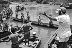 Mary Ellen Mark, Francis Ford Coppola directing. Apocalypse Now,  Pagsanjan, Philippines, 1976