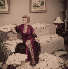 "Slim Aarons, Fan Mail, 1952: Marilyn Monroe sorts out her fan mail shortly after her film ""The Asphalt Jungle"" had been released, Beverly Hills"