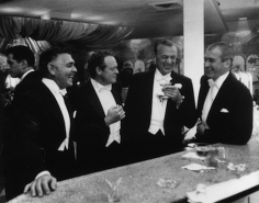 Slim Aarons, Film stars Clark Gable, Van Heflin, Gary Cooper, and James Stewart at Romanoff's, Beverly Hills, 1957