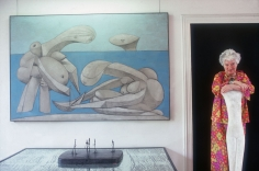 Slim Aarons, Peggy Guggenheim at the Palazzo Venier Dei Leoni, Venice, Italy, 1978