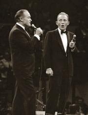 George Kalinsky, Bob Hope and Bing Crosby, Madison Square Garden, New York, 1968