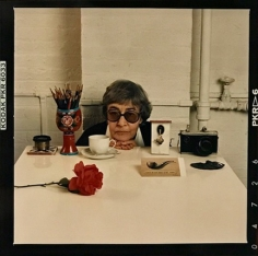 Abe Frajndlich, Evelyn Hofer with Still Life, New York, April 12, 1988