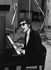 "Daniel Kramer, Bob Dylan Playing the Piano at ""Bringing it All Back Home"" Recording Session, New York, 1965"
