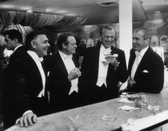 Slim Aarons, Kings of Hollywood, 1957: Clark Gable, Van Heflin, Gary Cooper, and James Stewart at Romanoff's in Beverly Hills
