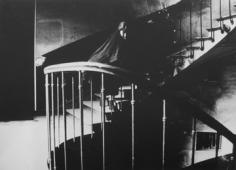 Deborah Turbeville, The Staircase: Aurelia Weingarten in Commes des Garcons, Passage Vivienne, Paris, 1980