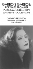 Greta Garbo, Exhibition Invitation