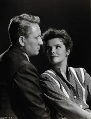 """Clarence Sinclair Bull, Katharine Hepburn and Spencer Tracy in """"Without Love"""", 1944"""