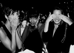 Roxanne Lowit, Linda Evangelista, Naomi Campbell, and Christy Turlington, New York, 1989