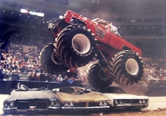 George Kalinsky, Monster Trucks,  Madison Square Garden, New York, 1984
