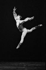 Francis Apesteguy, Mikhail Baryshnikov dancing at the Théâtre des Champs-Elysées, Paris, 1978