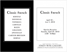 Classic French, Exhibition Invitation