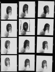 William Helburn, Jean Shrimpton Contact Sheet, Helene Curtis, 1964