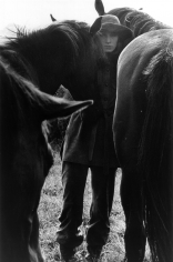 Bob Richardson, Angelica Huston with Horses