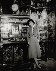 Louise Dahl-Wolfe, Coco Chanel in her apartment, Paris, France,1954
