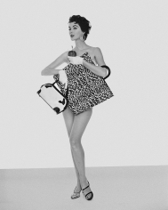William Helburn, Dovima with Handbags, Jenna Bags, 1953