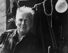 Herbert Matter, Alexander Calder smoking, 1955