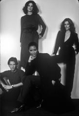 Harry Benson, Calvin Klein with Barbara Allen, Beverly Johnson, and Chris O'Connor, 1978
