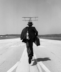 Rodney Smith, A.J. Chasing airplane, Orange County Airport, NY, 1998