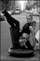 Burt Glinn, Edie Sedgwick, Andy Warhol, and Chuck Wein, New York, 1965