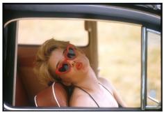 Bert Stern, Sue Lyons as Lolita, 1960 (in car)