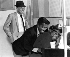 Phil Stern, Frank Sinatra, Sammy Davis Jr. and Count Basie, 1950s