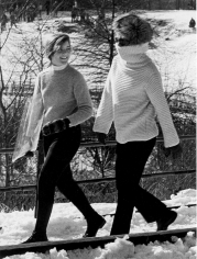 Ron Galella, Jackie Onassis and Caroline Kennedy, Central Park, 1971