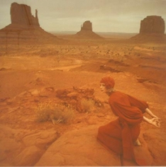 Norman Parkinson, JAN WARD IN A JEAN MUIR DRESS, MONUMENT VALLEY, UTAH, 1971