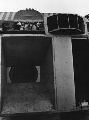 Daniel Kramer, Bob Dylan Checking Sound System with Speaker, Forest Hills Stadium, New York, 1965