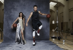 Patrick Demarchelier, Joan Smalls and Steph Curry, California, Vogue, 2016