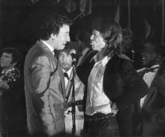 Ron Galella Bruce Springsteen, Mick Jagger and Bob Dylan performing at the 3rd Annual Rock and Roll Hall of Fame Awards, the Waldorf Hotel, NYC
