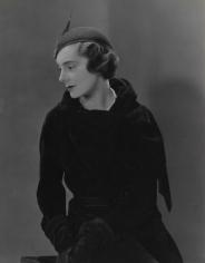 George Hoyningen-Huene, Model in Black Coat, 1931, Vintage Print