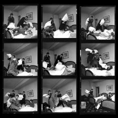 "Harry Benson, The Beatles ""Pillowfight"", Paris, 1964"