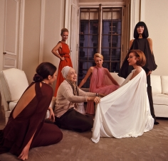 Harry Benson, Madame Grès with Models, Paris, 1973