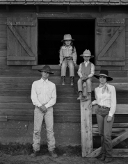 Kurt Markus, Larry, Reata, John, and Toni Schutte, Maggie Creek Ranch, Carlin, Nevada, 1984
