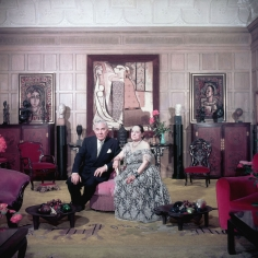 Slim Aarons, Cosmetics Princess, Helena Rubenstein and Prince Archil Gourielli, New York, 1950