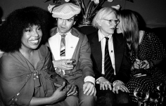 Ron Galella Roberta Flack, Elton John, Andy Warhol and Jerry Hall at Roberta Flack's Birthday Party, Xenon Disco, NYC, June 12, 1978