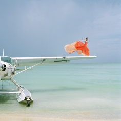 Rodney Smith, Saori on Sea Plane Wing, Dominican Republic, 2010