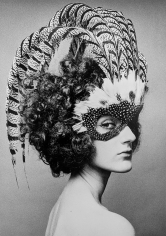 Chris von Wangenheim, Untitled (woman with feathered head dress)