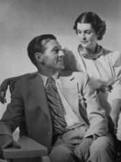 Horst,  Gary Cooper and wife Veronica Balfe, 1938
