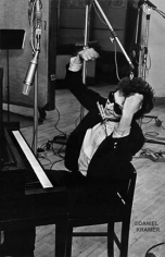 "Daniel Kramer, Bob Dylan with Raised Arms at ""Bringing it All Back Home"" Recording Session, New York, 1965"