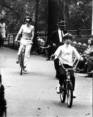 Ron Galella, Jackie Onassis and John F. Kennedy Jr. Bicycling in Central Park, New York, 1969