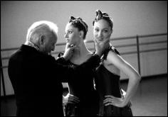 Arthur Elgort, George Balanchine with The Roy Sisters, New York City Ballet, 1979